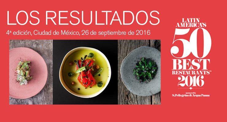 Los 50 mejores restaurantes de Latinoamérica 2016
